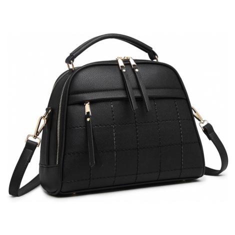 Černá dámská kufříková kabelka s prošíváním Pekahiah Lulu Bags