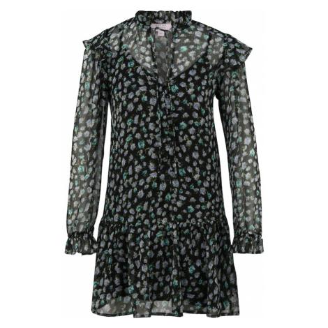 Miss Selfridge Petite Šaty černá / bílá / světlemodrá / zelená