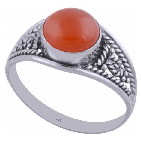 AutorskeSperky.com - Stříbrný prsten s karneolem - S782