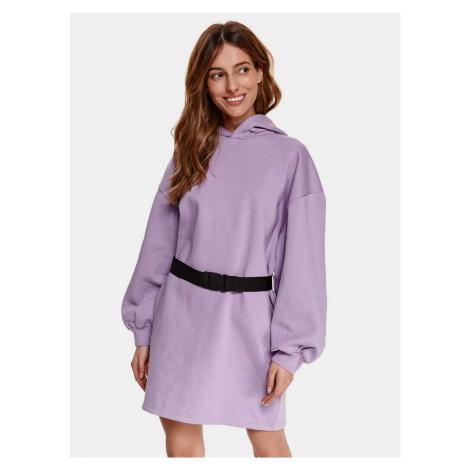 TOP SECRET fialové mikinové šaty