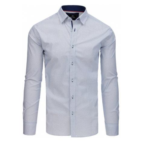 Dstreet Atraktivní bílá elegantní košile