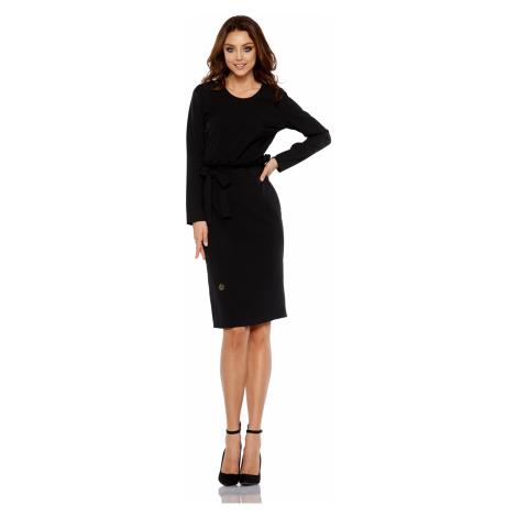 Elegantní pouzdrové šaty s pásem Lemoniade