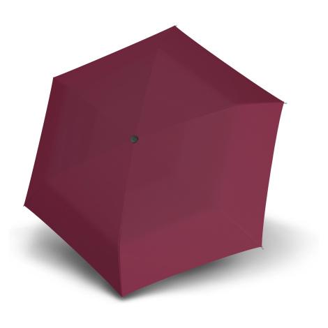 Vínový dámský plochý skládací deštník Ador Doppler