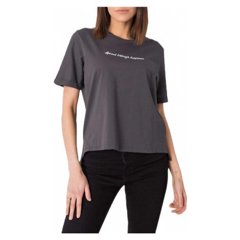šedé tričko s nápisem Rue Paris