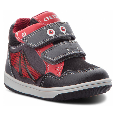 Kotníková obuv GEOX - B N. Flick B. C B841LC 0AU54 C0047 Dk Grey/Red
