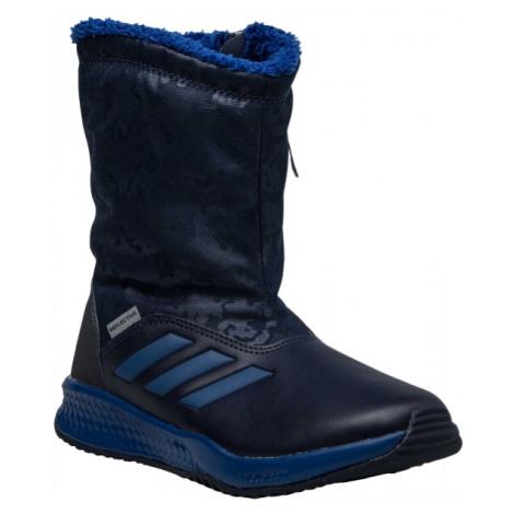adidas RAPIDASNOW K modrá - Dětská zimní obuv