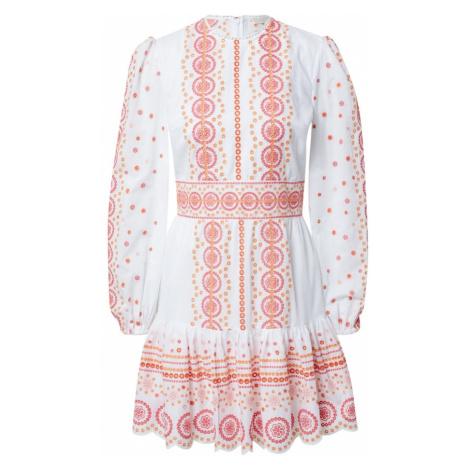 MICHAEL Michael Kors Šaty bílá / pink / oranžová