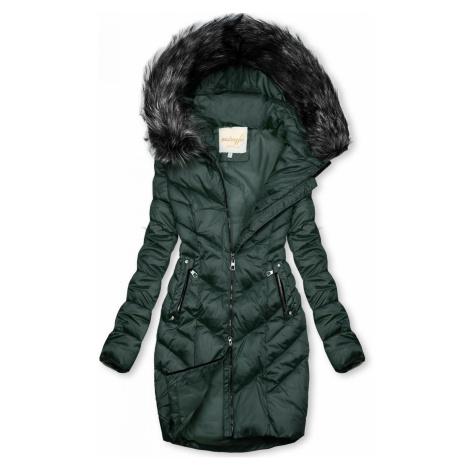 Prešívaná zimná bunda zelená Butikovo