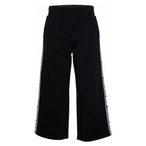 Karl Lagerfeld Kalhoty černá / bílá