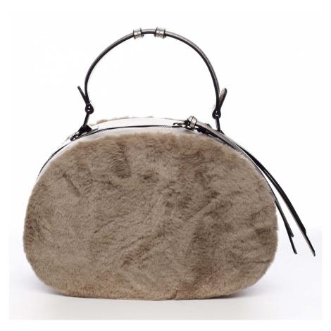 Dámská kožešinová kabelka meruňková - MARIA C Hasiel Maria C.