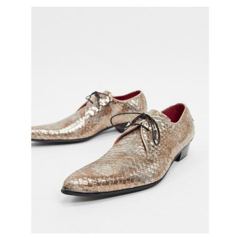 Jeffery West adamant shoe in gold snake