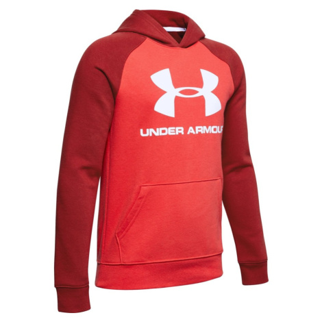 Chlapecká Mikina Under Armour Rival Logo Hoodie Ys Martian Red