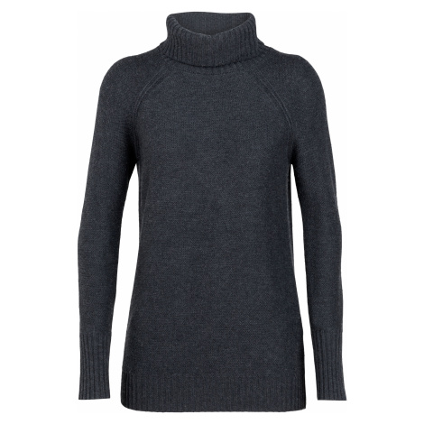 Dámský svetr ICEBREAKER Wmns Waypoint Roll Neck Sweater, CHAR HTHR Icebreaker Merino