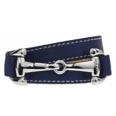 Náramek BURGHLEY DIMACCI, navy blue/stříbrný