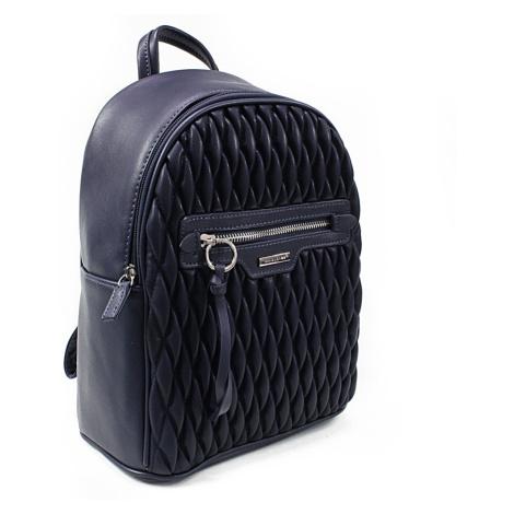 Tmavě modrý dámský designový zipový batoh Baylee David Jones