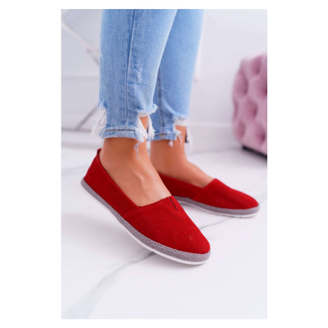 Women's Espadrilles Suede Leather Red Bimbo Kesi
