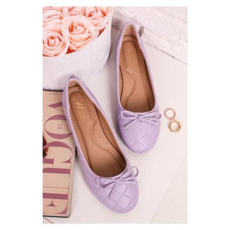 Světle fialové balerínky Selma Mulanka