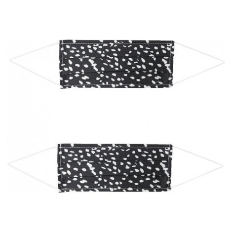 Zwillingsherz Látková rouška '2er Pack Dotty' bílá / černá