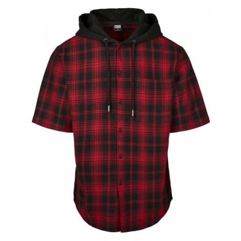 Hooded Short Sleeve Shirt - black Urban Classics
