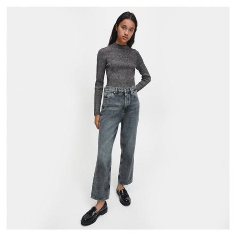 Calvin Klein dámský černo stříbrný svetr