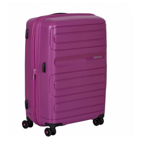 Střední růžový kufr na kolečkách American Tourister
