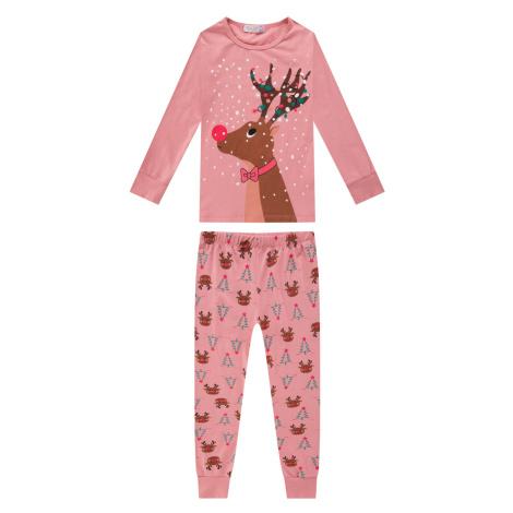 Dívčí pyžamo - KUGO MP1308, růžová světlá