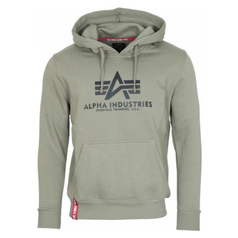 Alpha Industries Mikina Basic Hoody olivová
