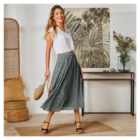 Blancheporte Dlouhá rozšířená sukně s minimalistickým designem bronzová
