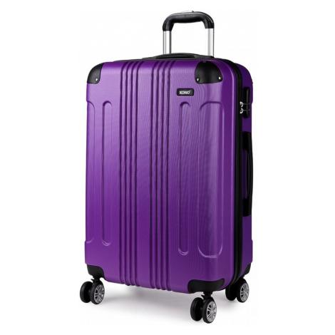 Fialový cestovní kvalitní prostorný malý kufr Amol Lulu Bags