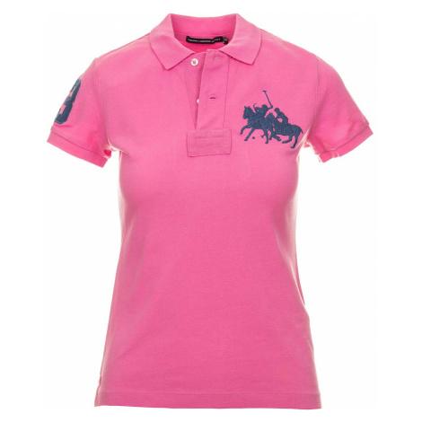 Ralph Lauren dámské polo tričko růžové s výšivkou