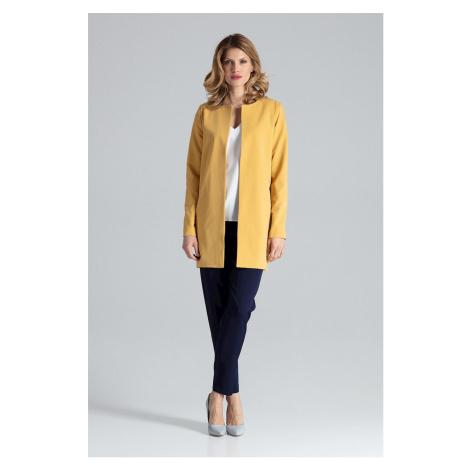 Elegantní dámský dlouhý blejzr kabátek bez zapínání