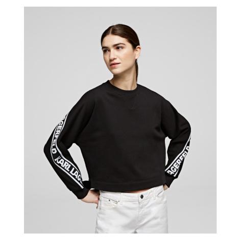 Mikina Karl Lagerfeld Rue St-Guillaume Logo Sweat - Černá