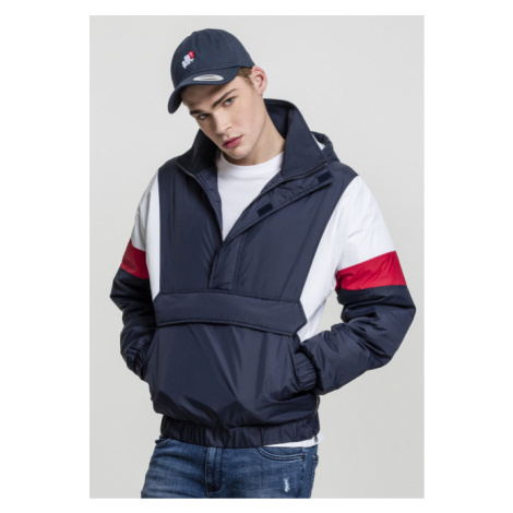 Urban Classics 3 Tone Pull Over Jacket navy/white/fire red