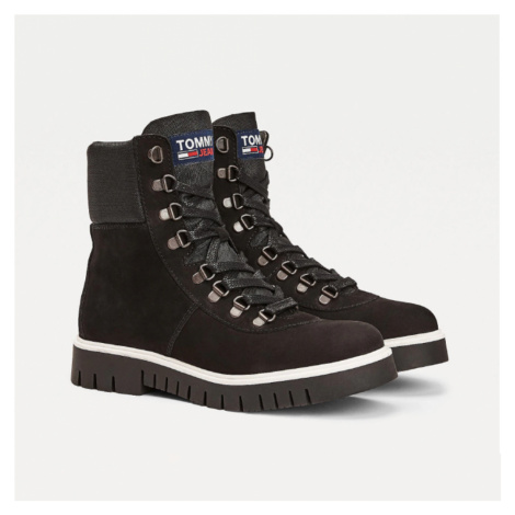 Tommy Jeans dámské černé kotníčkové boty Tommy Hilfiger