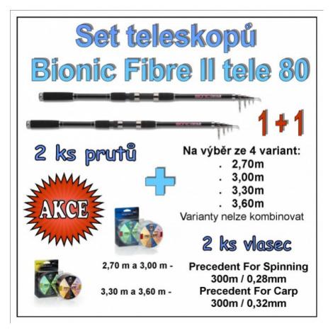 Set teleskopů Bionic Fibre II tele 80 1 + 1 Varianta 3,60m Saenger