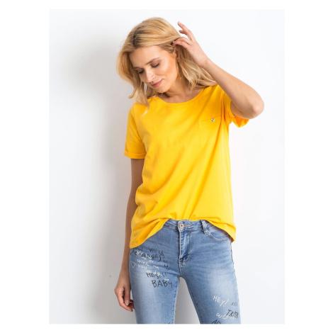 Light orange cotton women´s t-shirt Fashionhunters