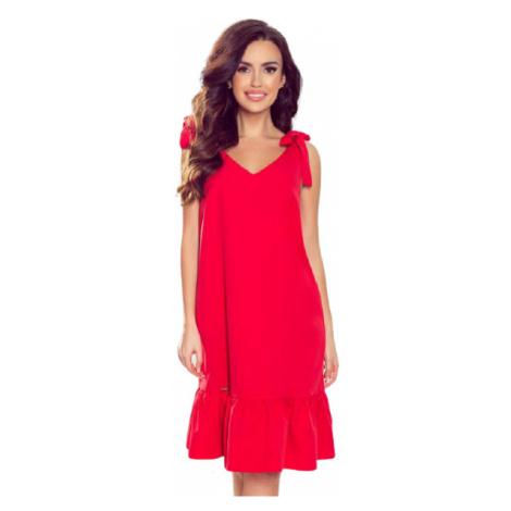 Dámské šaty Numoco 306-1 Rosita | červená