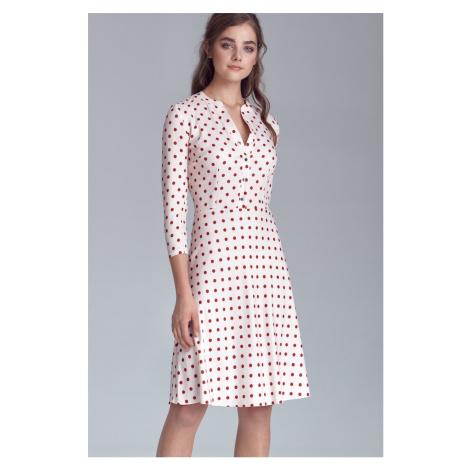 Dámské puntíkaté společenské šaty