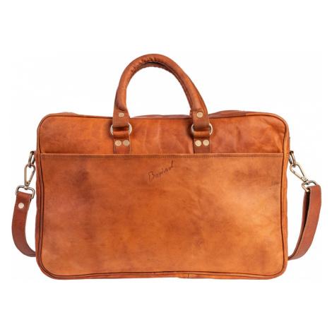 Bagind Makey - Dámská i pánská kožená taška (aktovka) na notebook hnědá, ruční výroba, český des