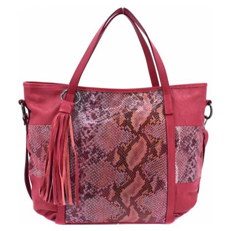 Dámská kožená kabelka Arteddy - tmavě červená
