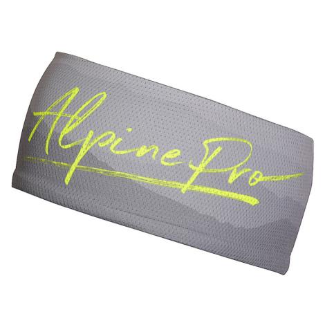 ALPINE PRO MUSA 2 Unisex čelenka USFR070530 reflexní žlutá UNI