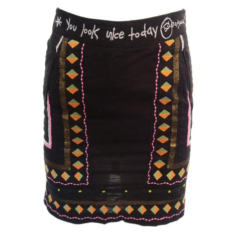 Desigual černá sukně se zlatými flitry