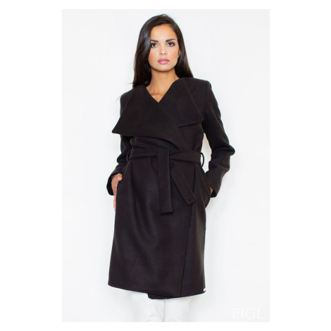 Černý kabát M408 Figl