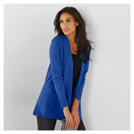 Blancheporte Dlouhý svetr s dlouhými rukávy modrá