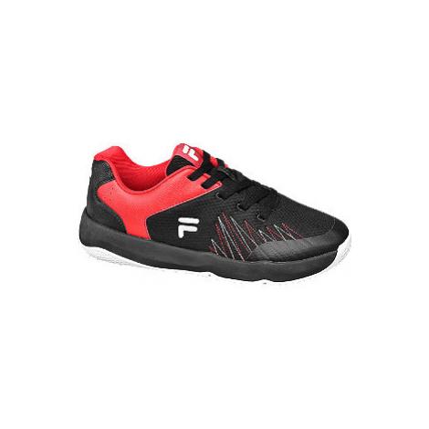 Červeno-černé tenisky Fila