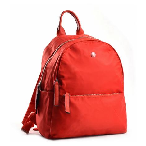 Bright Elegantní dámský batoh větší A5 vybavený červený, 26 x 12 x 31 (BR18-W117-1618-00TX)