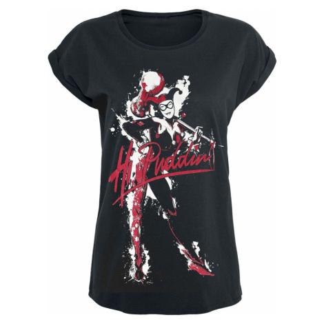 Harley Quinn Hi Puddin dívcí tricko černá