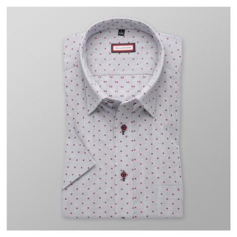 Pánská slim fit košile s krátkým rukávem 8051 v modré barvě s úpravou easy care Willsoor