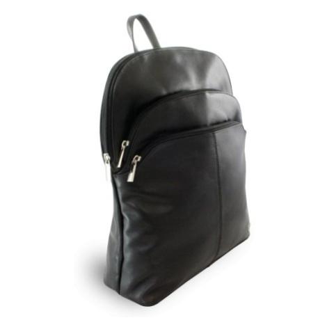 Černý kožený moderní batoh Poppy Arwel