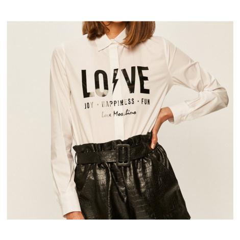 Bílá košile LOVE MOSCHINO
